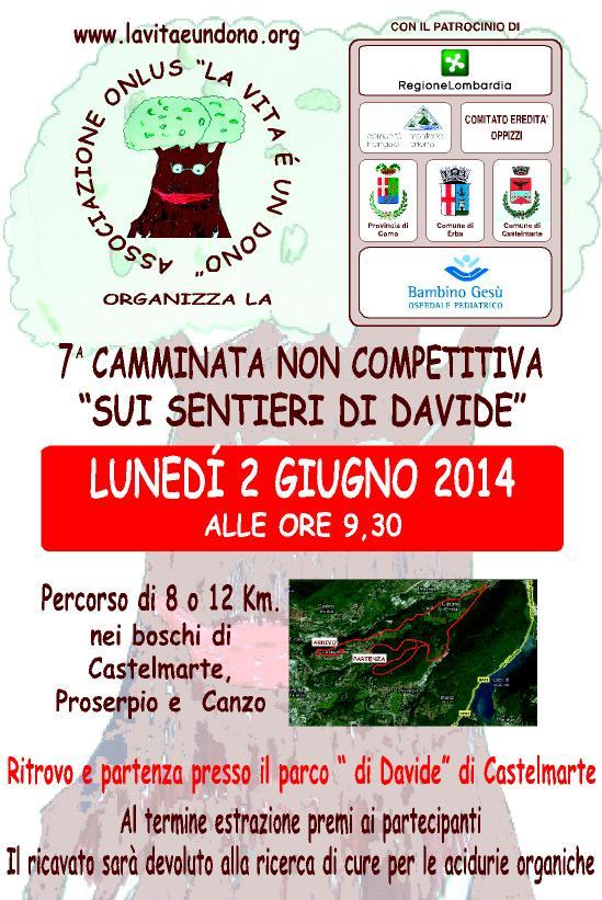 """VII Camminata """"Sui Sentieri di Davide"""" Lun 2 Giugno 2014"""