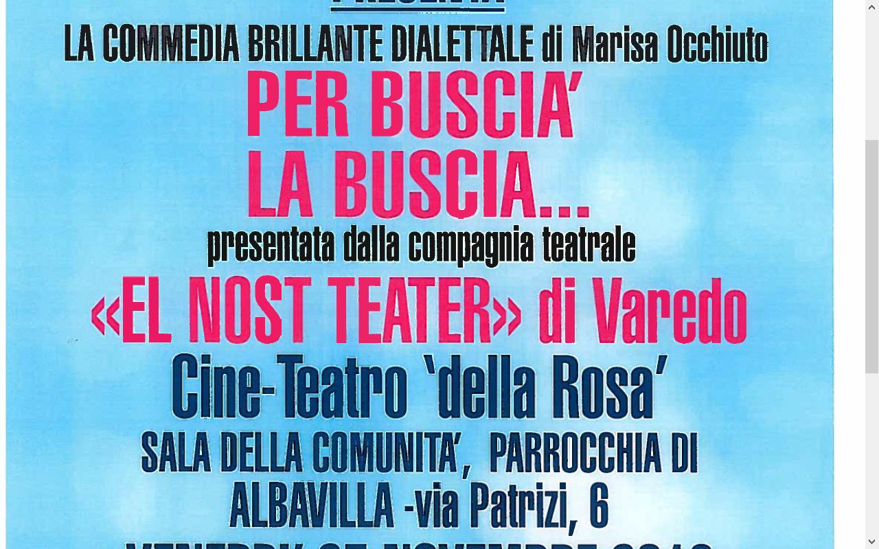 Spettacolo Teatrale Ven 25 novembre 2016