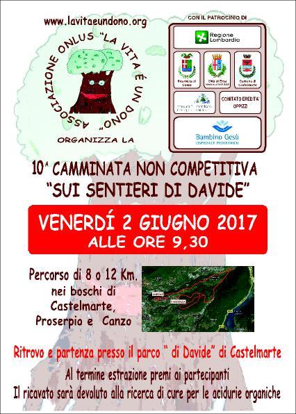 """10° Camminata """"Sui Sentieri di Davide"""""""
